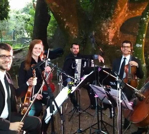 Com Quartetto de Cordas em Casa da Figueira - Porto Alegre - 5 de Setembro 2015